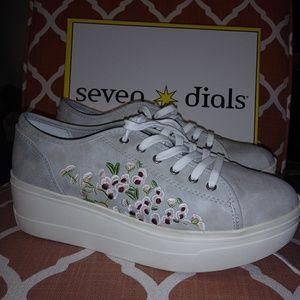 Seven dials platform sneakers. Flower design